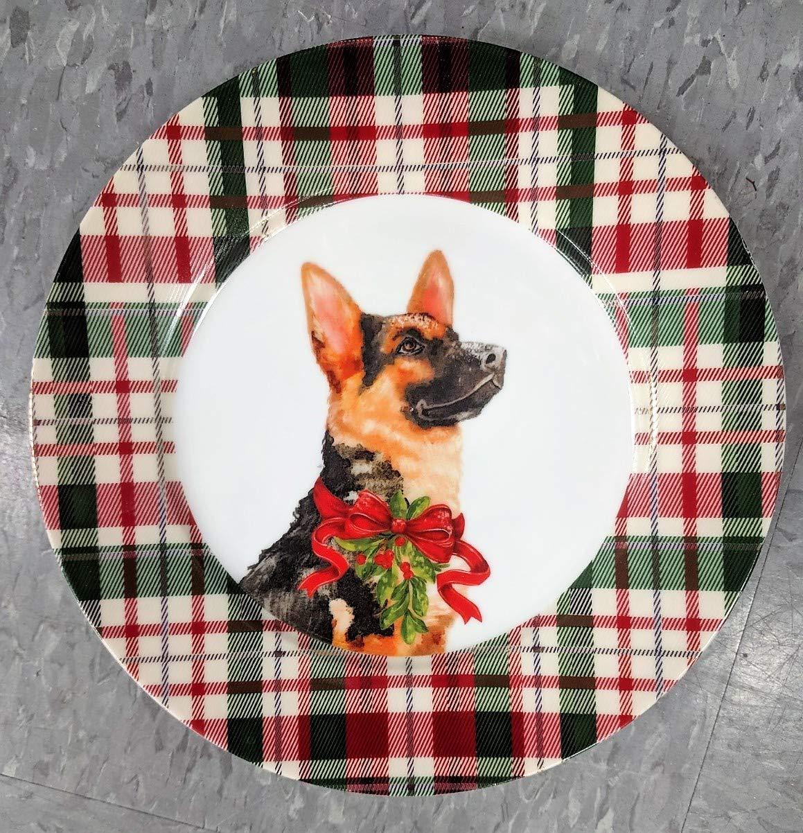 Celtic Canines お祝い用装飾ホリデーサラダまたはディスプレイプレート お気に入りの犬付き Salad B07JK28Y59 Parent ジャーマンシェパード