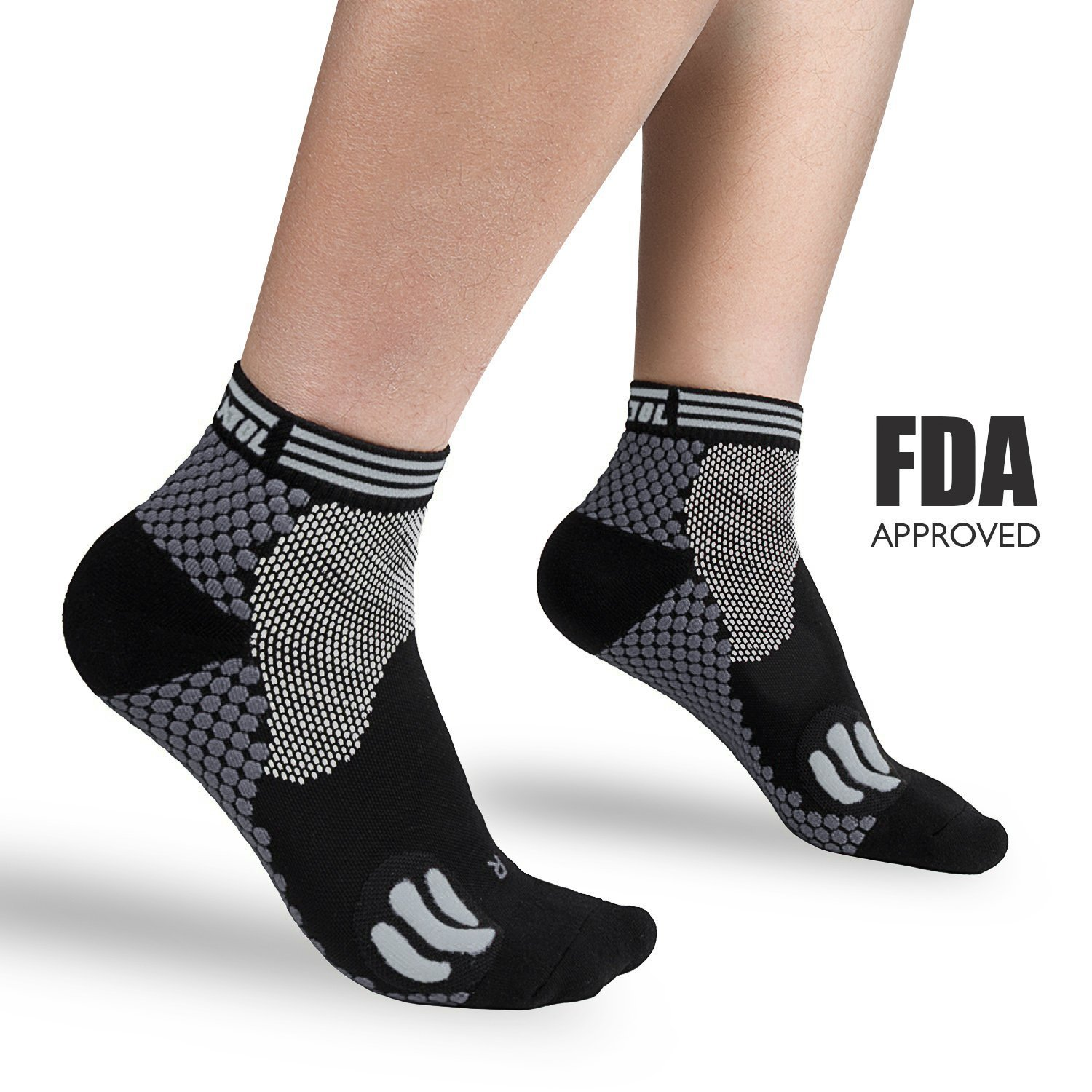 Plantar Fasciitis Socks, Compression Socks with Ankle & Arch Support for Men and Women Foot & Heel Sleeves to Relieve Pains (Large)
