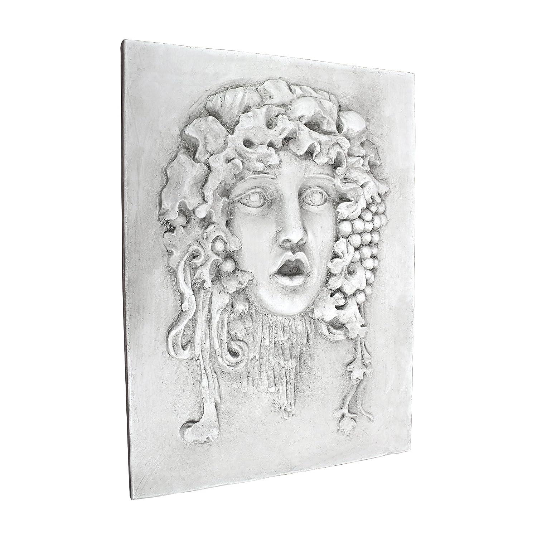 Design Toscano EU29833 Scultura da Parete in Stile Italiano Vappa, Pietra Antica, 1.5x33x43 cm