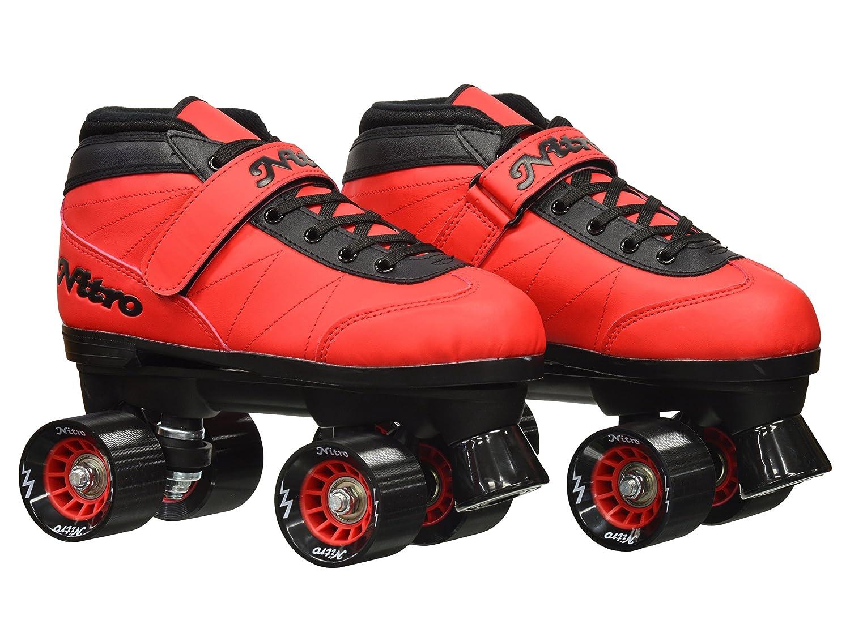 Amazon.com: Epic Skates Epic Nitro Turbo Red Quad Speed Roller Skates Package 1: Toys & Games
