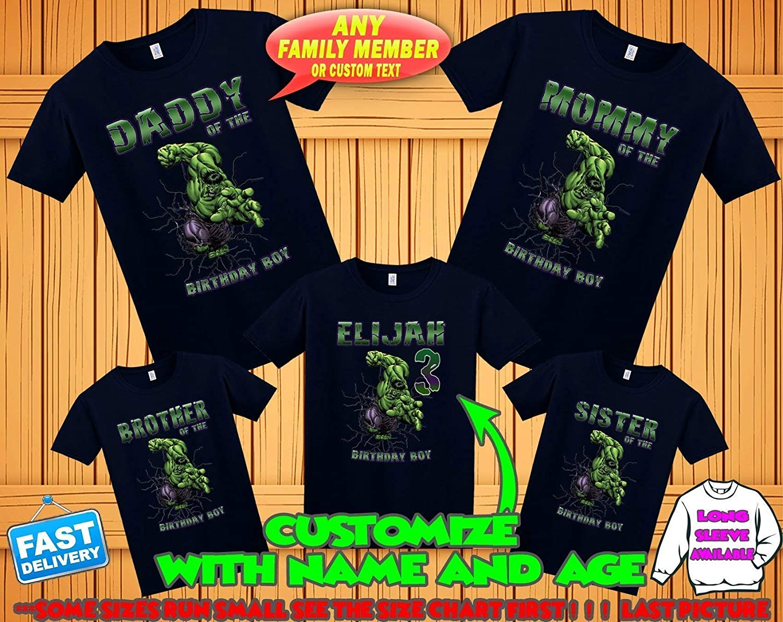 Personalized Incredible Hulk Birthday T-Shirt