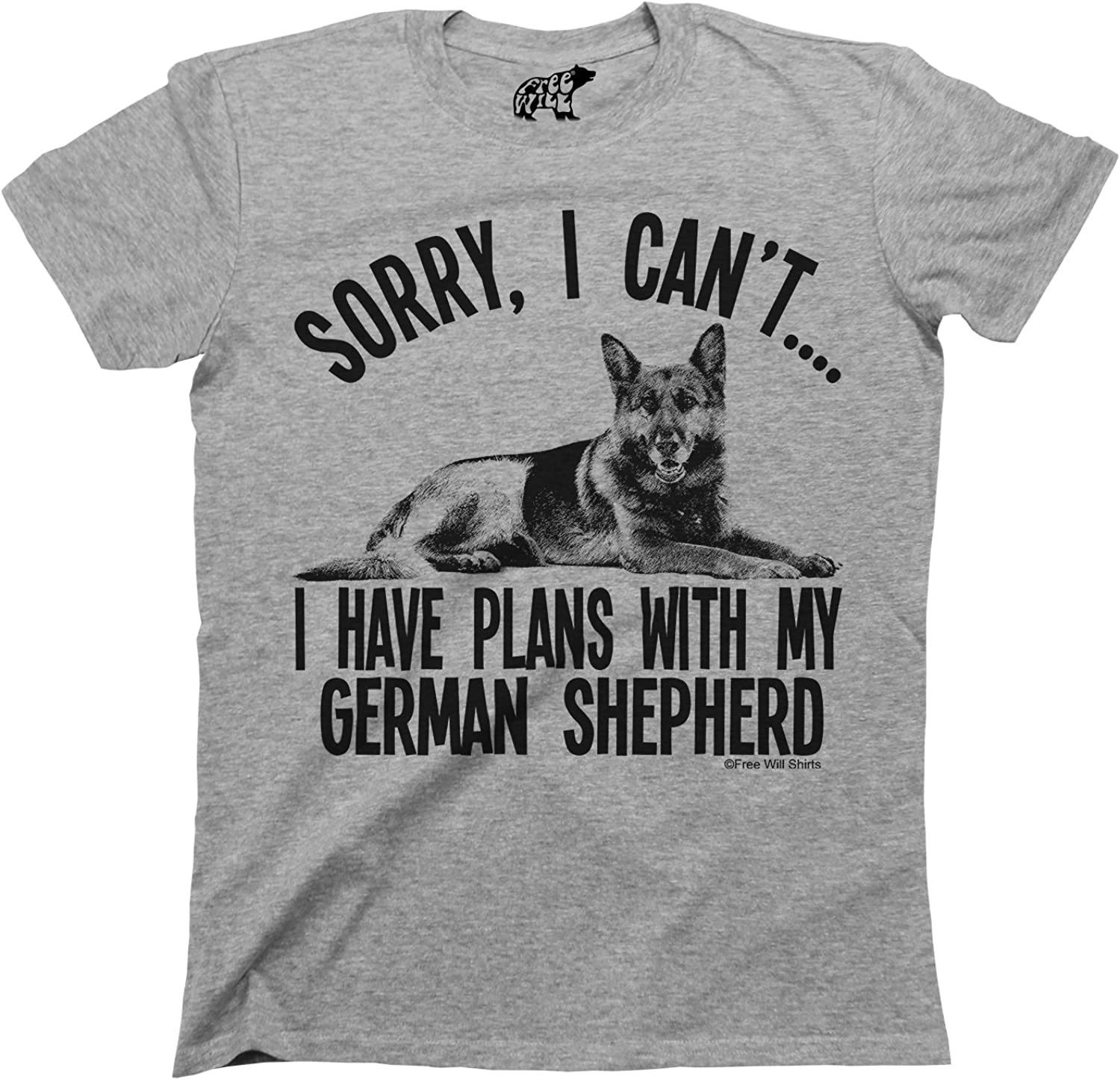 Sorry I Cant I Have Plans With My German Shepherd Dog Hoodie Mens Ladies Unisex