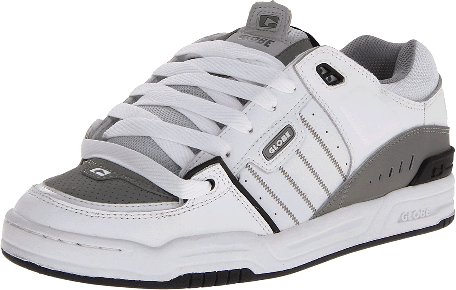 Globe Mens Fusion Skate Shoes 8.5 D(M) US|White/Grey/Black