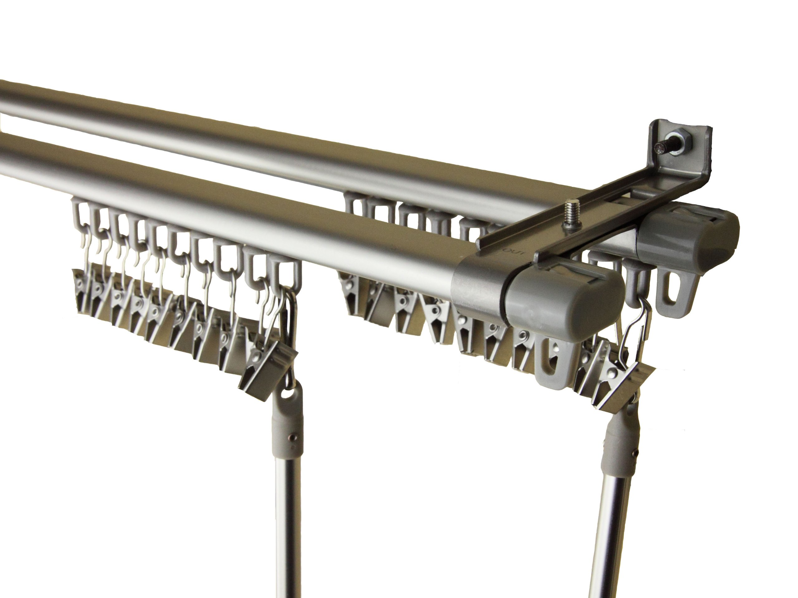 A&F Rod Decor - Sterling Adjustable Double Track 48-84 inch - Silver