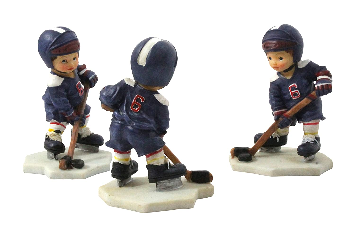 S&D Child Hockey Player Figurine 3-Pack