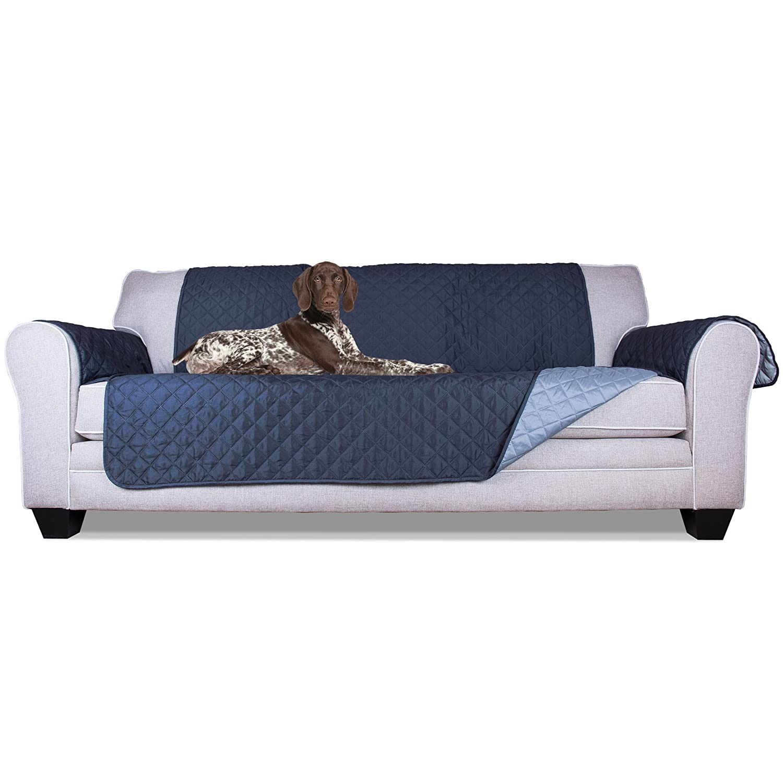 Navy light bluee SofaFurHaven Pet Furniture Cover