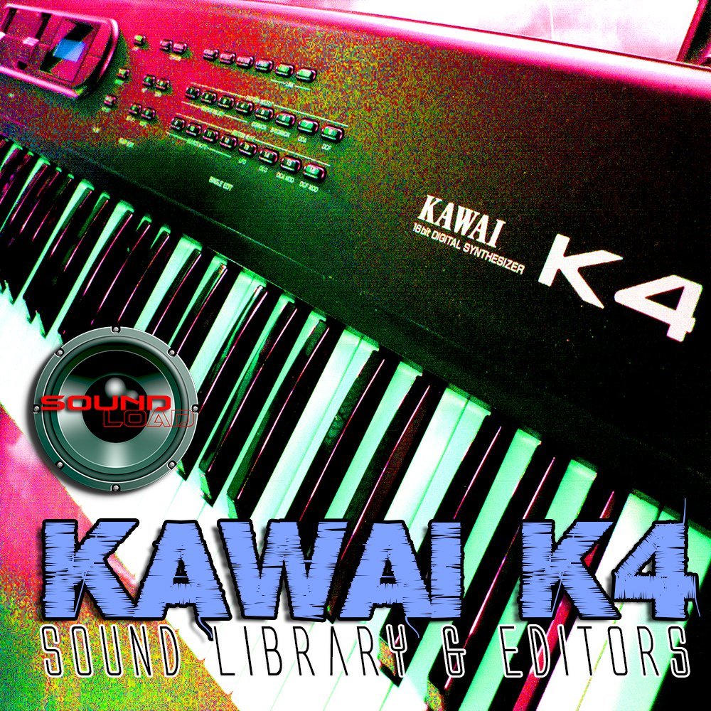 KAWAI K4/K4r - Large Original Factory & New Created Sound Library & Editors on CD or download