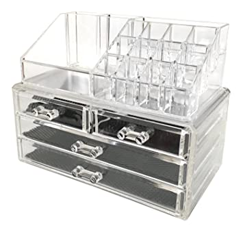 Amazoncom Sodynee Jewelry And Cosmetic Storage Piece Acrylic - Acrylic makeup organizer