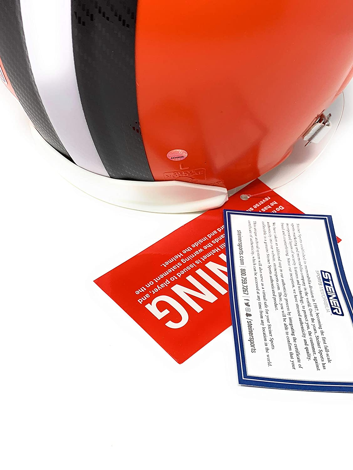 Baker Mayfield Cleveland Browns Signed Autograph Full Size Proline Authentic Helmet Steiner Sports Certified