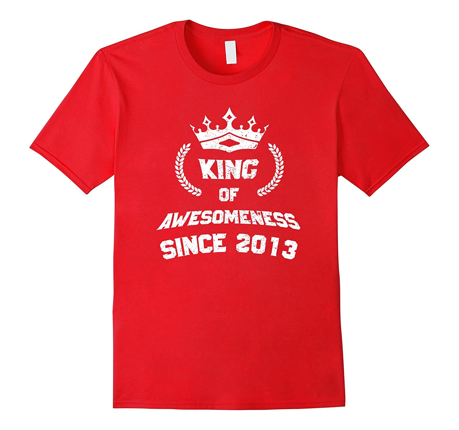 King Of Awesomeness 4th Birthday T Shirt Age 4 For Boys PL