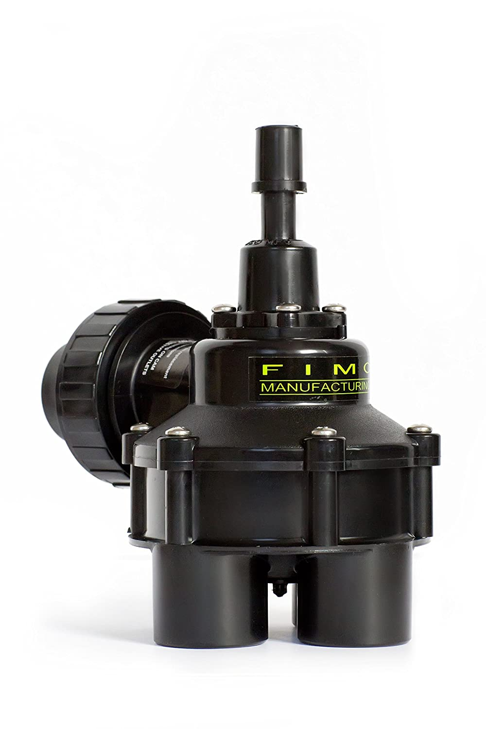 Fimco Manufacturing Mini 4-Outlet Irrigation Indexing Valve, 1-Inch, Black