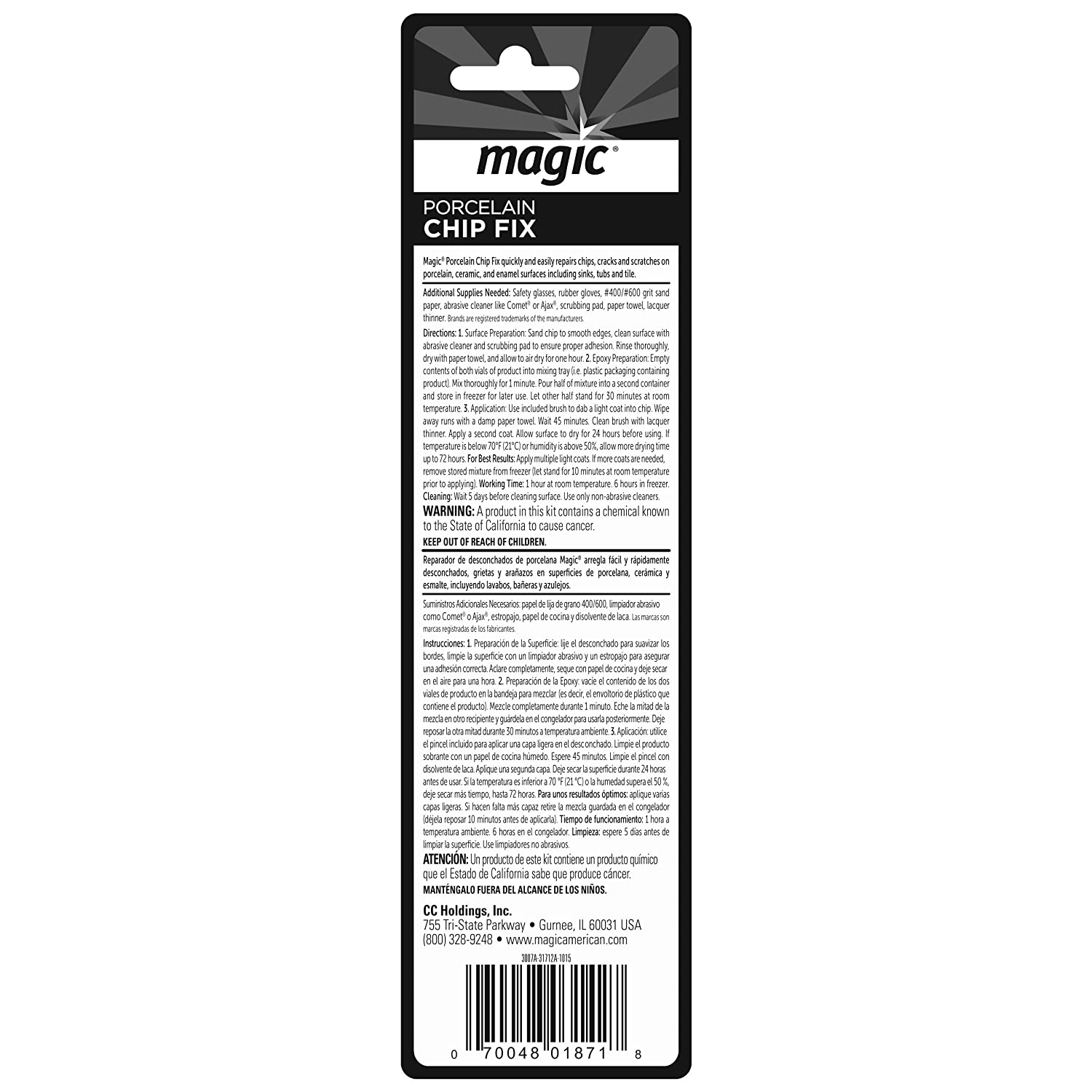 Amazon magic porcelain 2 part epoxy chip fix white home amazon magic porcelain 2 part epoxy chip fix white home kitchen dailygadgetfo Choice Image