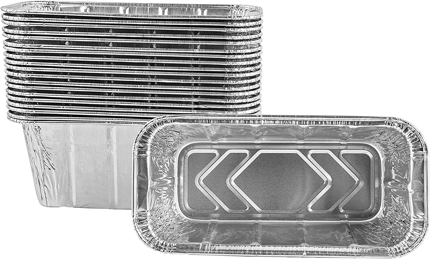 LS'BABQ 25 Pack Aluminum Grill Drip Pans Grease Cup Liners Compatible with Blackstone Grill Accessories 28 and 36 Inch BBQ Griddle and Other Rear Grease Griddle Units,Grill Grease Tray