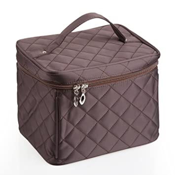 e4059ab120c Image Unavailable. Image not available for. Color  EN DA big size Nylon  Cosmetic bag with quality zipper single layer travel Makeup bags