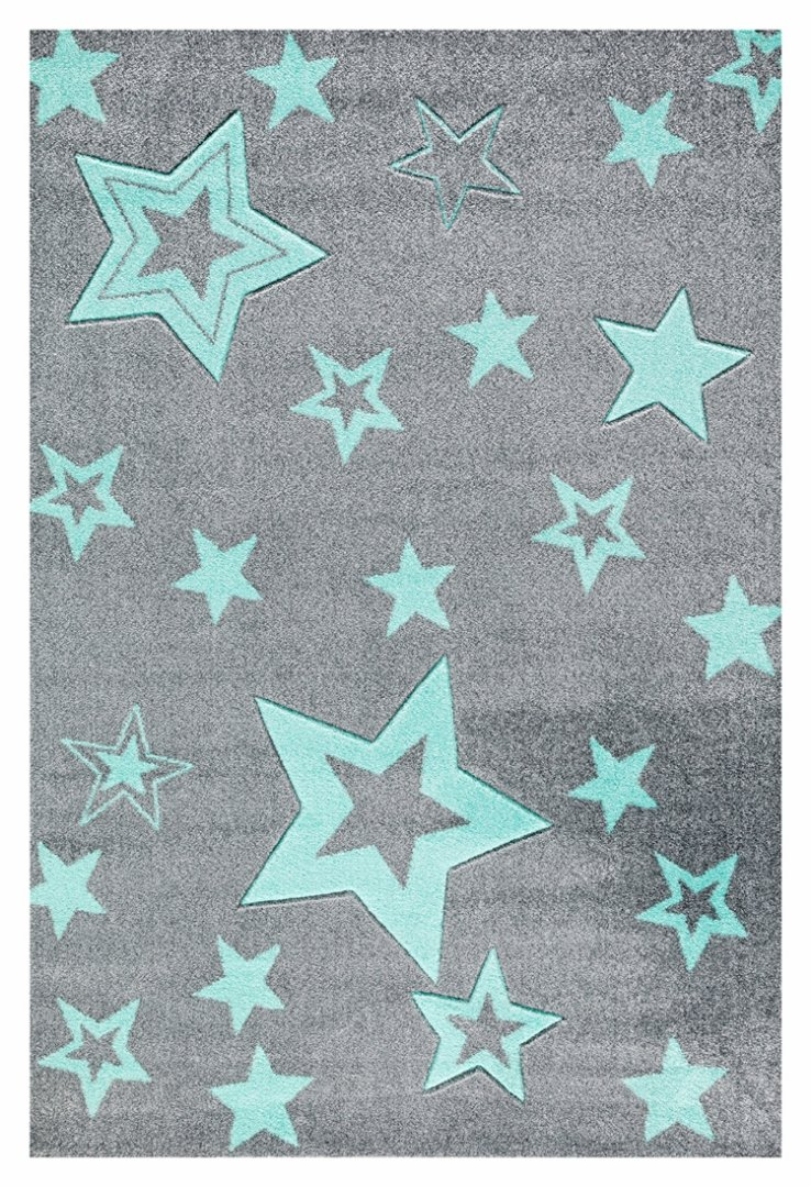 Livone Kinderteppich Happy Rugs Starlight grau Mint Grösse 160 x 230 cm