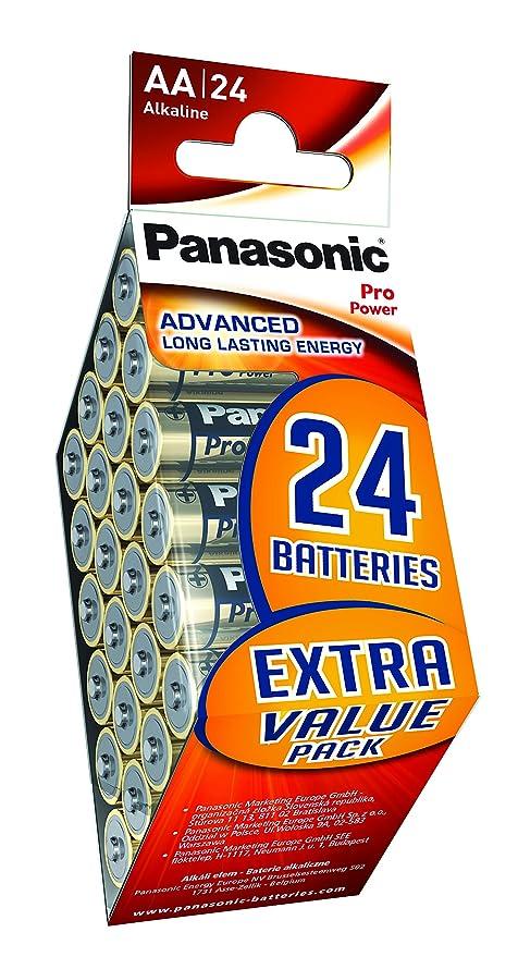 Panasonic Multipack 24 Pilas Alcalinas AA LR6 Pro Power