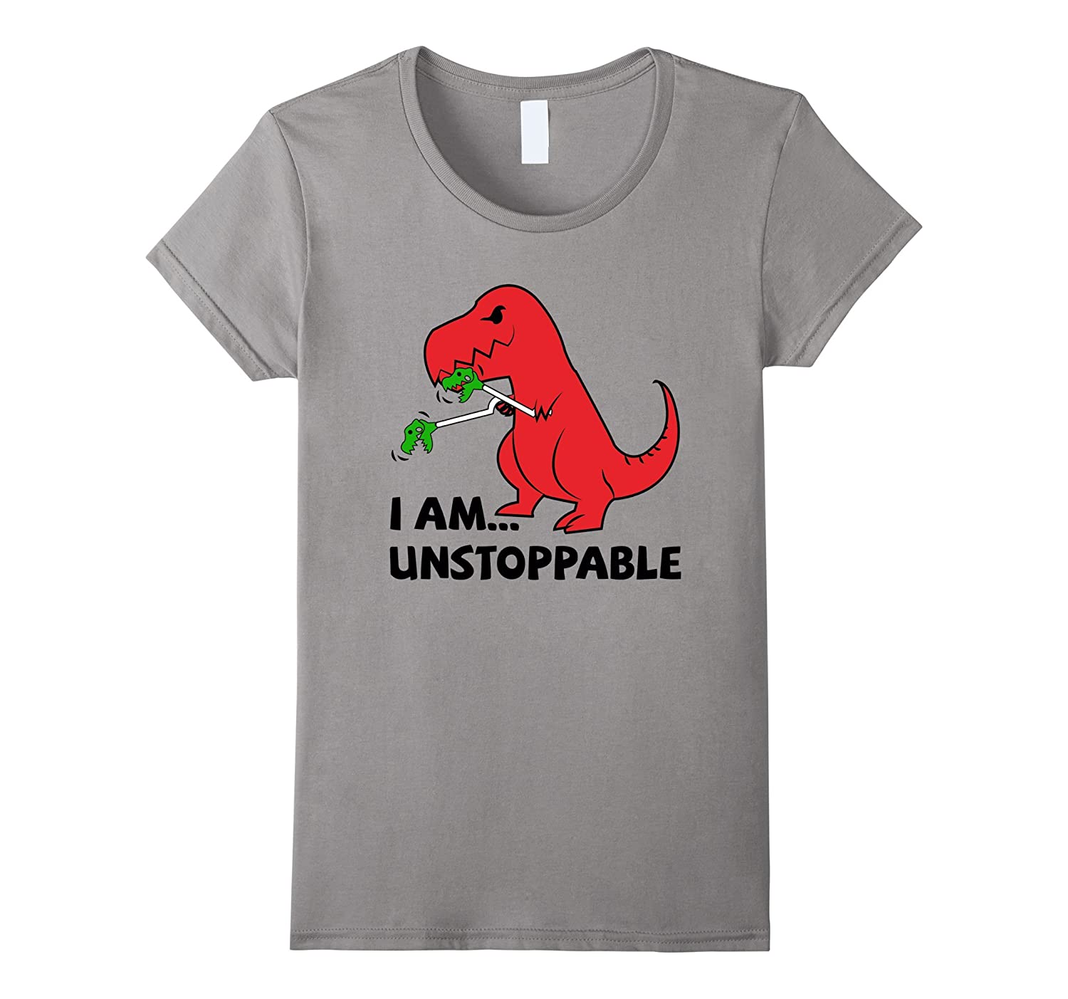 Funny Work Out, Cross Train, Fitness Shirt Unstoppable T-Rex