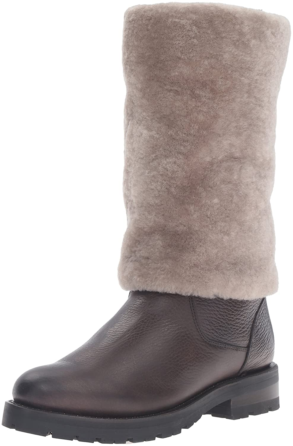 FRYE Women's Natalie Cuff Lug Winter Boot B01BM0N4V8 9 B(M) US|Dark Brown