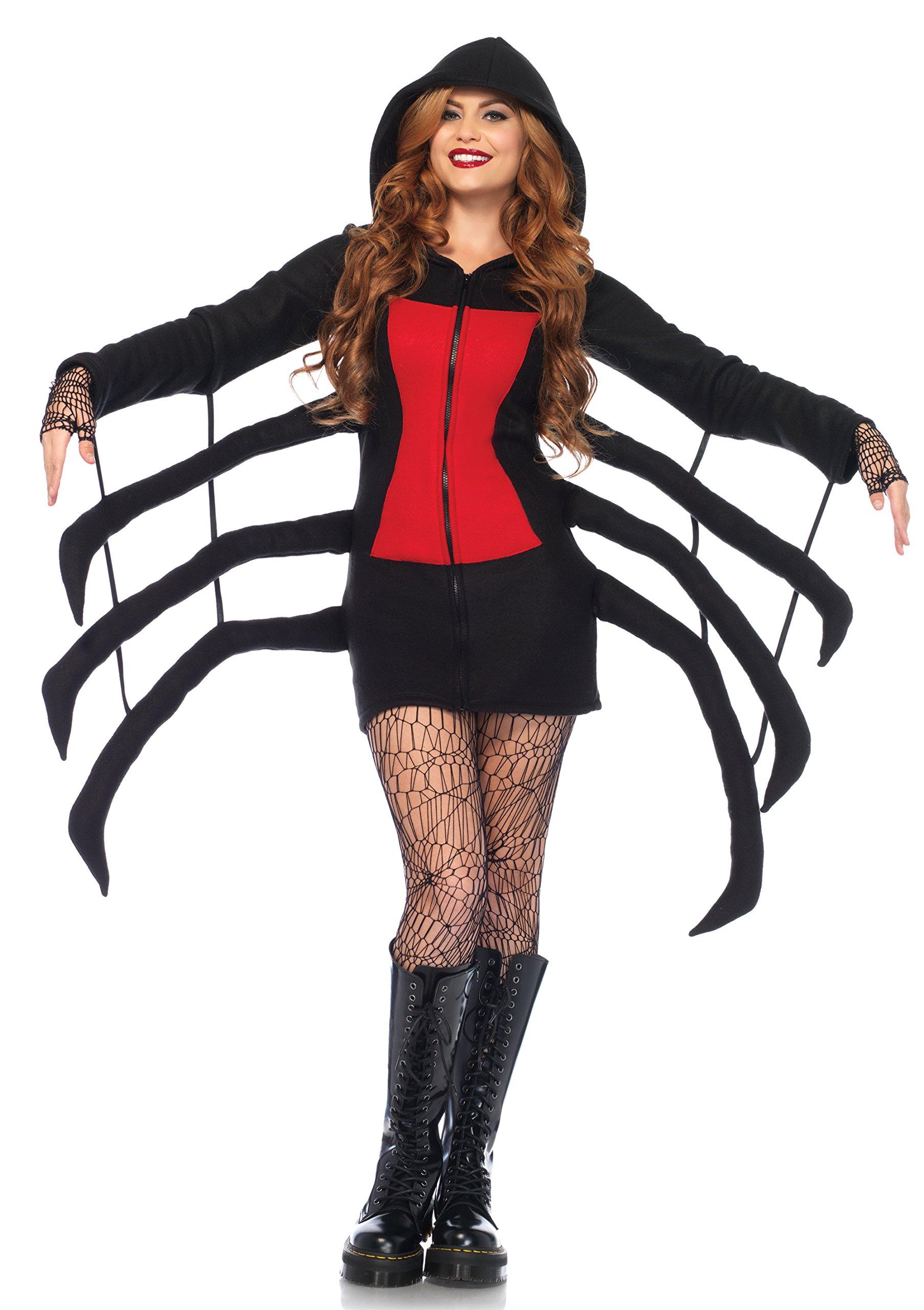 Leg Avenue Women's Black Widow Cozy, Black/Red, Small