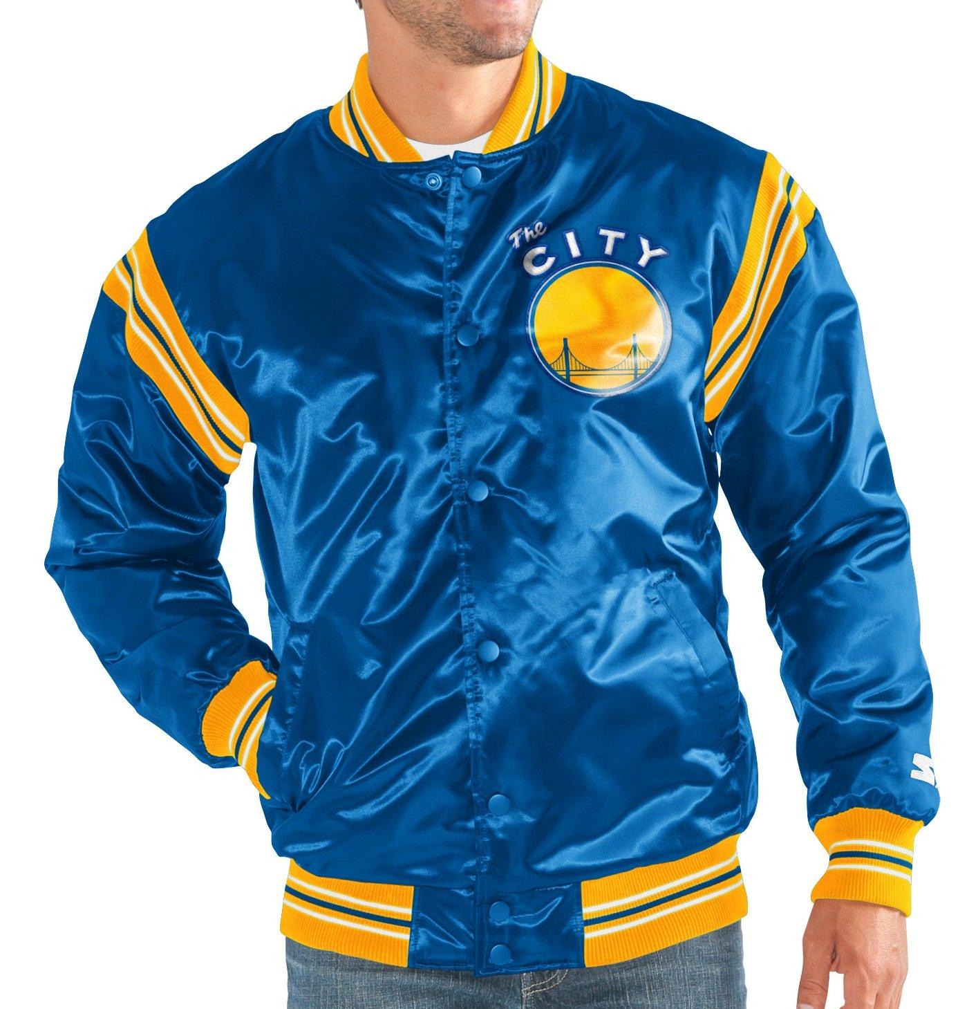 Golden State Warriors NBA Men's Starter ''The Enforcer'' HWC Premium Satin Jacket (3XL) by Starter