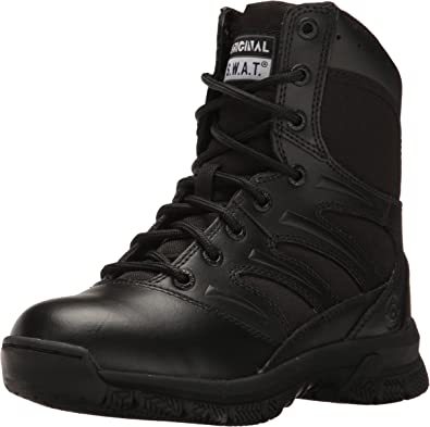 "Amazon.com: Original S.W.A.T. Men's Force 8"" Side Zip Military and Tactical  Boot, Black: Shoes"