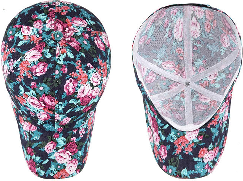 Summer Women Print Floral Baseball Cap Fashion Adjustable Hip Hop Hat Printed Flower Sun Cap