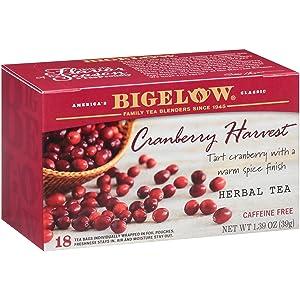 Bigelow Cranberry Harvest Herbal Tea Bags 18-Count Box (Pack Of 6), Caffeine Free 108 Tea Bags Total
