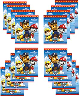 20 Paw Patrol Emoji STICKERS Party Favors Supplies Treat Loot Bags