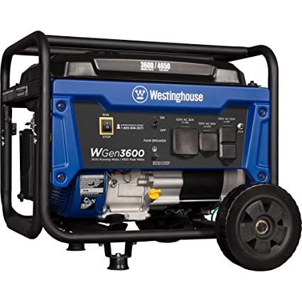 amazon com westinghouse wgen3600 portable generator 3600 rated rh amazon com