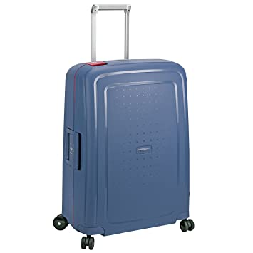 32471360947 Samsonite S'Cure Suitcase 4 Wheel Spinner 69cm Medium Steel Blue:  Amazon.co.uk: Luggage