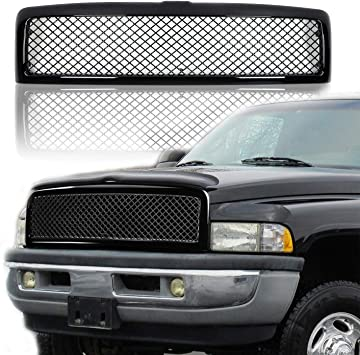 2002 Dodge Ram 1500 Accessories >> Replacement Grille For 1994 2001 Dodge Ram 1500 And 1994 2002 Dodge Ram 2500 3500 Gloss Black Mesh Grill By Jx Accessories