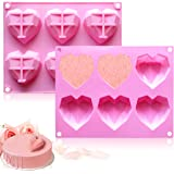 Fya Chocolate Mold, Special 3D Diamond Heart Love Shape Cake Mould, 100% Food-Grade Silicone Mold, Non-Stick Easy Release Mol