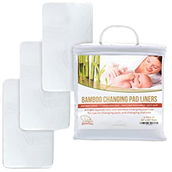 Amazon.com: Extra Large Changing Pad Liners For Baby, Non-Slip ...