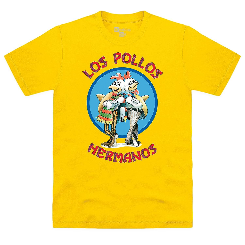 70e3e83ef03 Amazon.com  Shotdeadinthehead Men s Breaking Bad Los Pollos Hermanos  Organic T-Shirt  Clothing