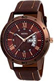Matrix Analogue Day & Date Functioning Brown Dial Watch For Men/Boys (Dd-45)