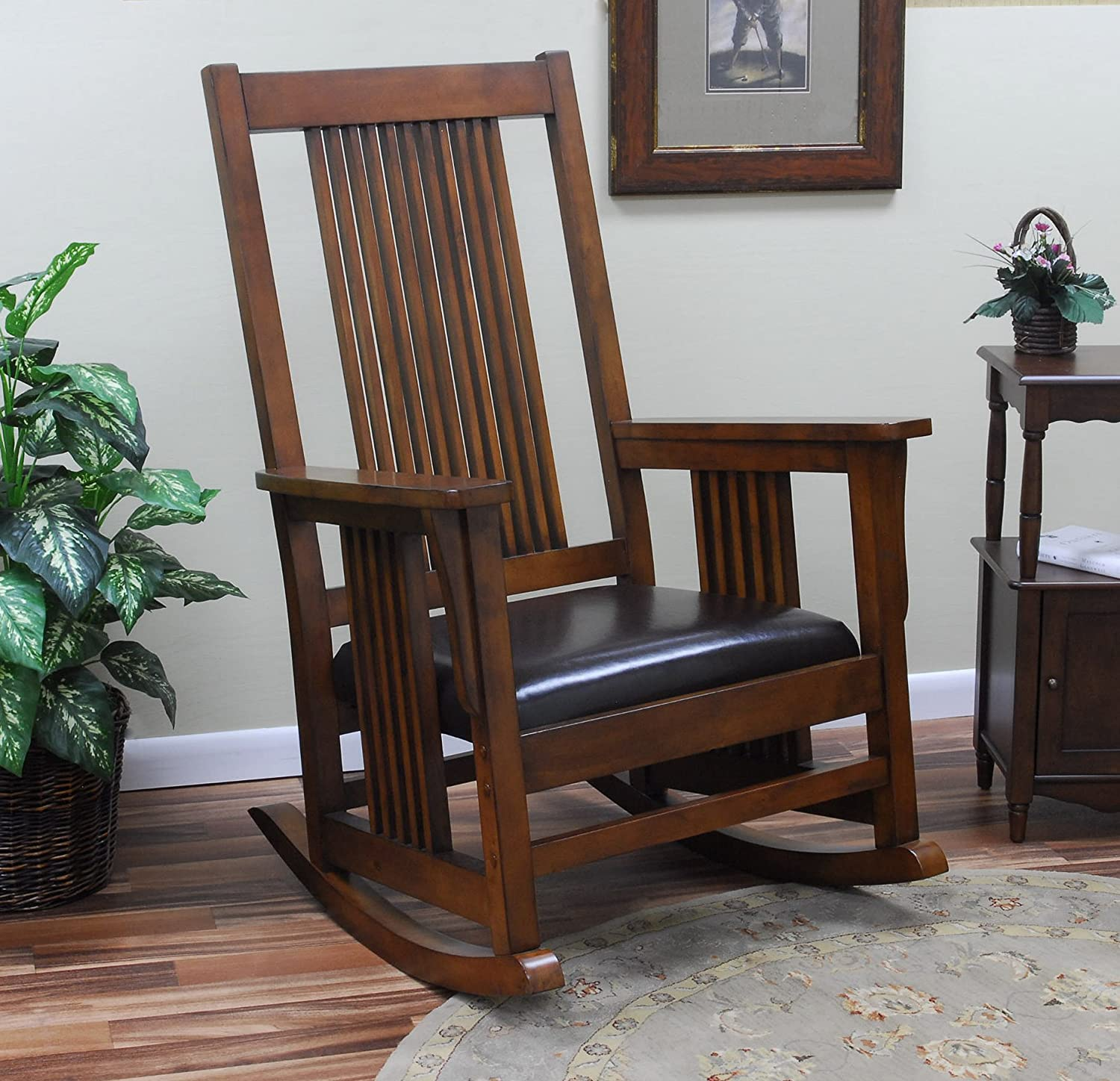 Amazon Carolina Chair and Table Chestnut RTA Deluxe Mission