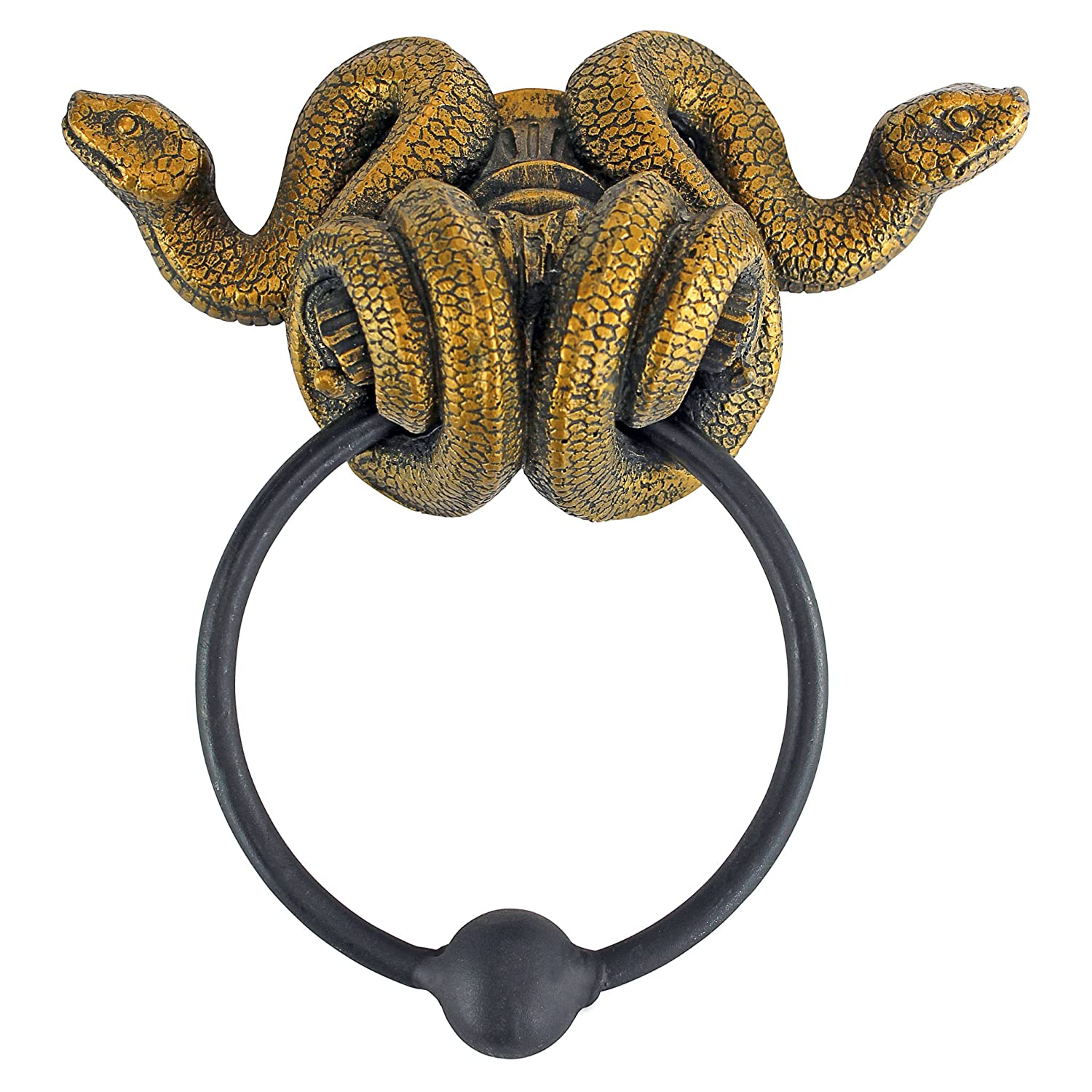 Design Toscano Egyptian Cobra Goddess Towel Ring Wall Sculpture - Set of 2 CL96795
