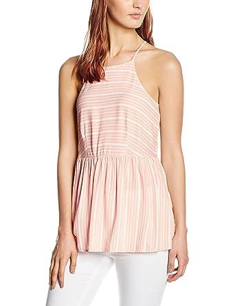 1685549926b682 New Look Women s Peplum Cami Striped Sleeveless Tops