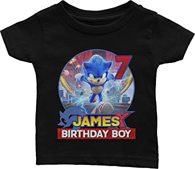 Amazon Com Family Personalized Birthday Shirt For Sonic Birthday Theme Clothing