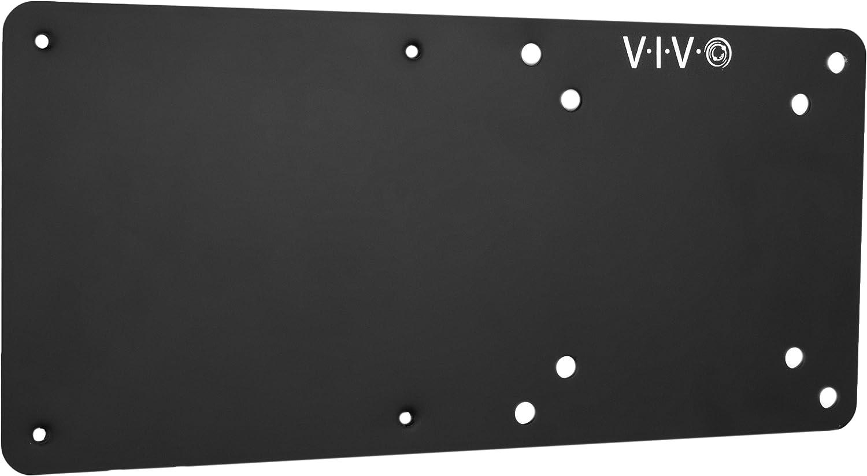 VIVO Black Steel Arm Bracket Holder for Intel NUC, Back of Monitor VESA Metal Plate Mount Extension (MOUNT-VESA01)