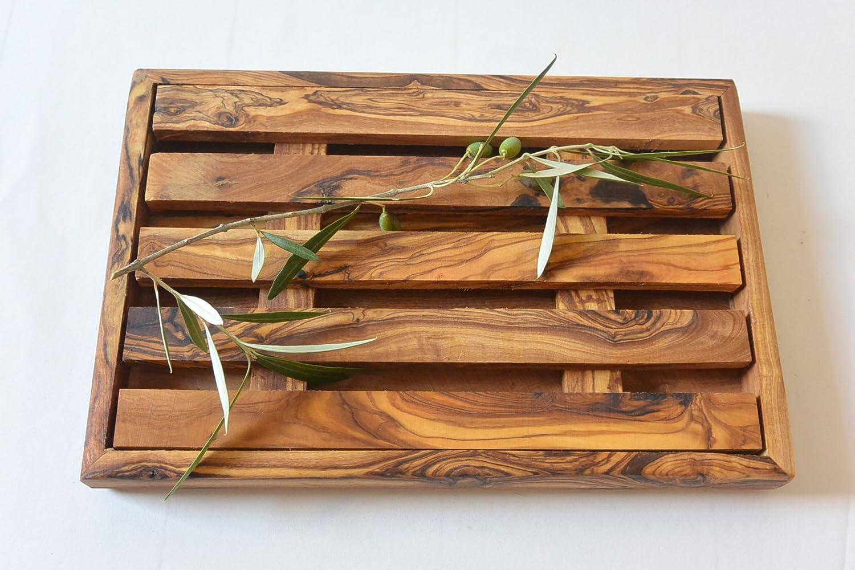 Tagliere per pane raccogli briciole in legno di ulivo Prosudweb