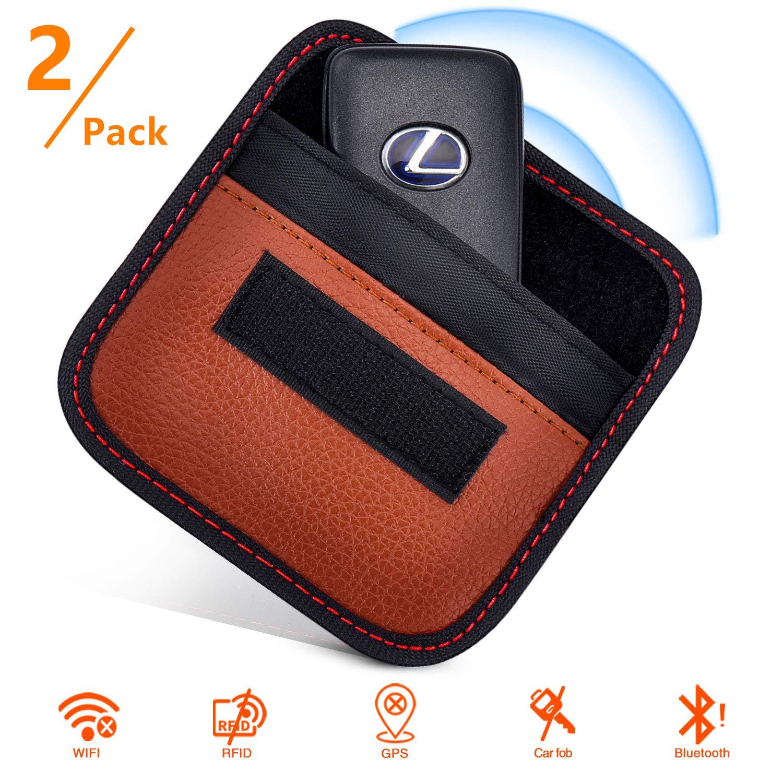 RFID Signal Blocking pouch Keyless Entry Car Key Fob Black Replace Accessory