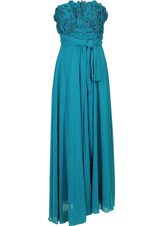JuJu & Christine Langes Damen Chiffon Abendkleid (A2505) mit Träger vers. Farben Gr. 34 - 42