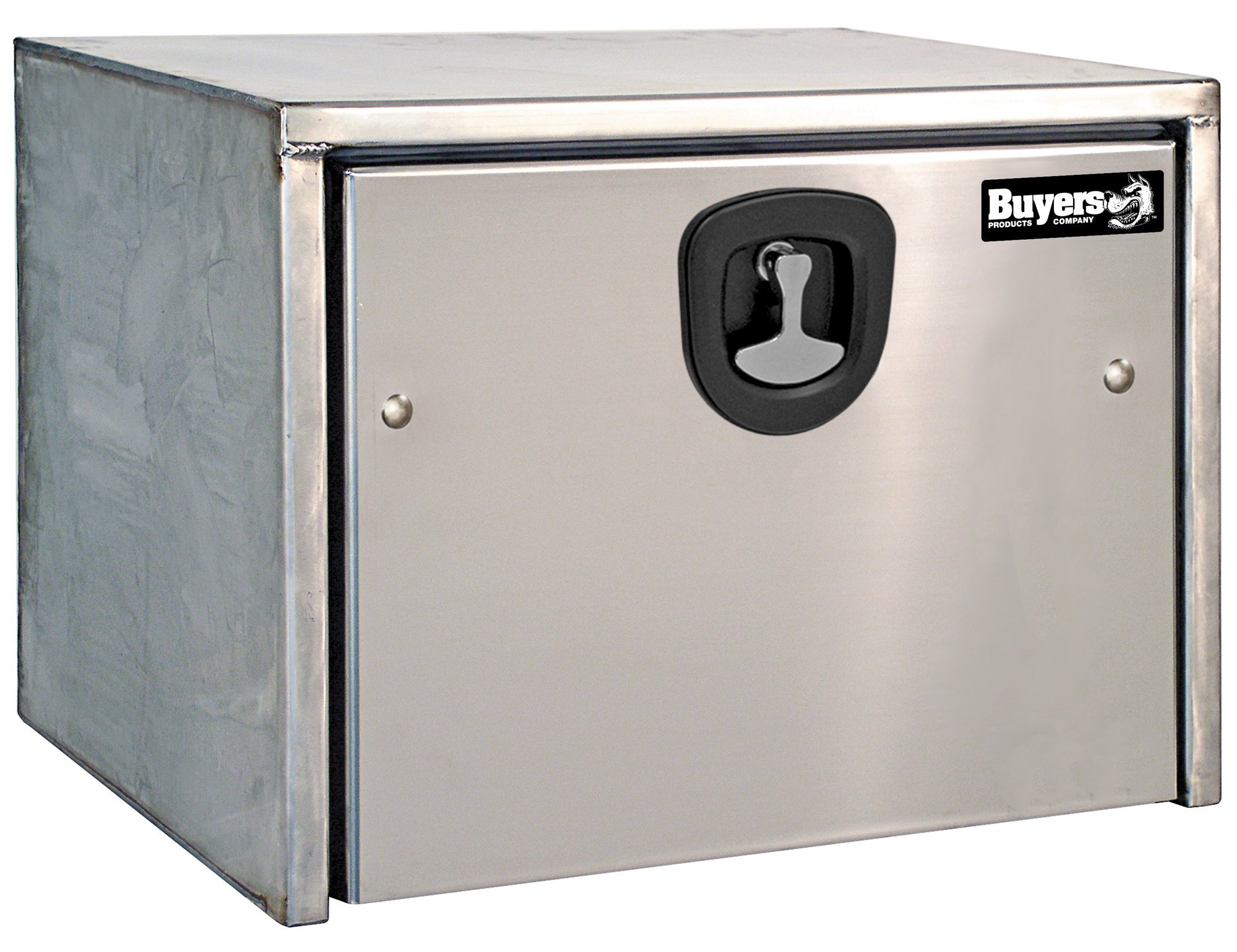 Buyers Products Stainless Steel Underbody Truck Box w/Polished Stainless Steel Door (18x18x36 Inch)