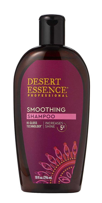 Desert Essence Smoothing Shampoo - 10 Fl Oz - Hi-Gloss Technology - Increases Shine 5x - Apple Cider Vinegar - Quinoa Protein - Tea Tree Oil - Retains Hair Moisture - Sulfate-Free
