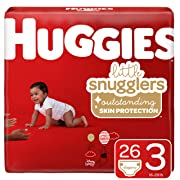 Huggies Little Snugglers Baby Diapers, Size 3 (16-28 lb.), Jumbo Pack, 26 Count