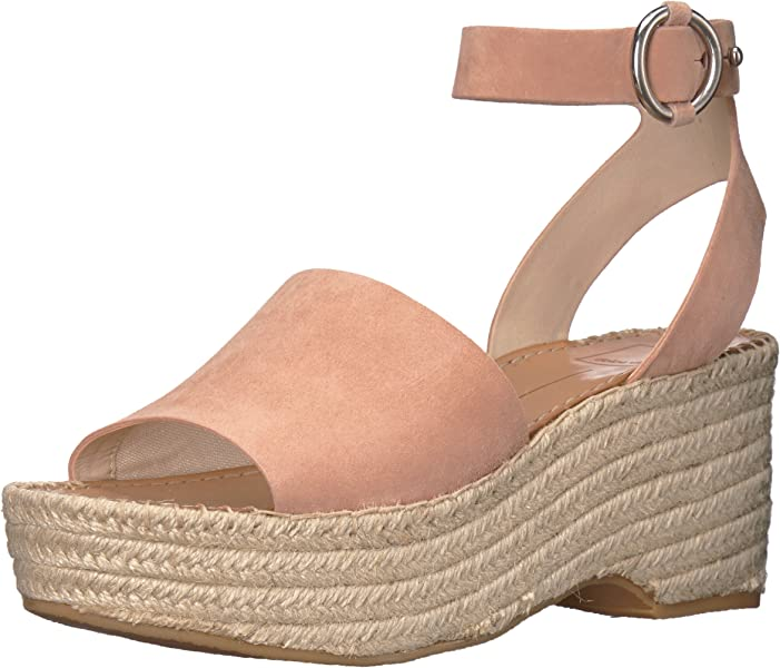 fc25a8e23c96 Amazon.com  Dolce Vita Women s Lesly Espadrille Wedge Sandal Rose ...