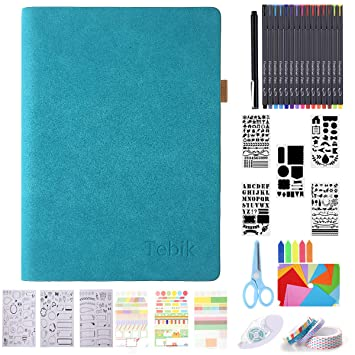 Amazon.com: Tebik Bullet Dotted Journal Kit, A5 - Diario de ...