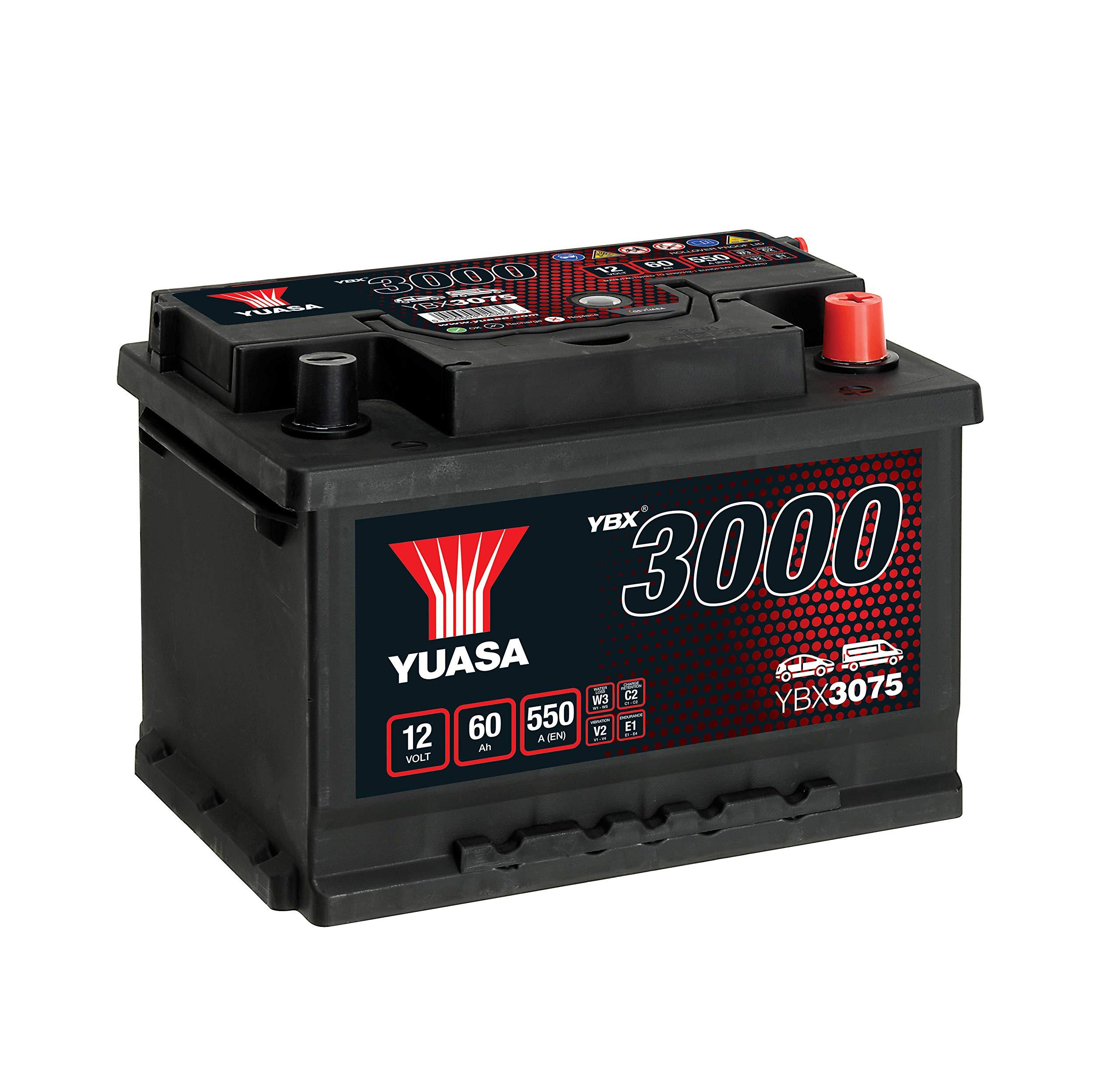 Yuasa YBX3075 12V 60Ah 550A SMF Battery