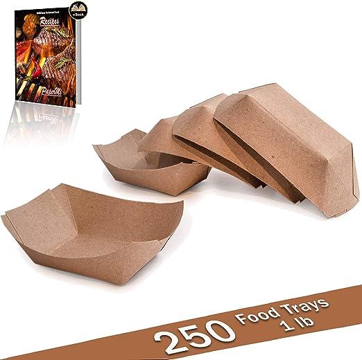 Bandeja de papel kraft marrón para alimentos, capacidad de 1 lb ...